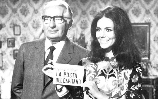 Никола Чиккарелли с актрисой Джорджией Мол, которая испытывала продукцию Ciccarelliв течение 10 лет и была ее активным сторонником, в первом показанном на итальянском телевидении рекламном ролике, созданном с участием изготовителя продукции.